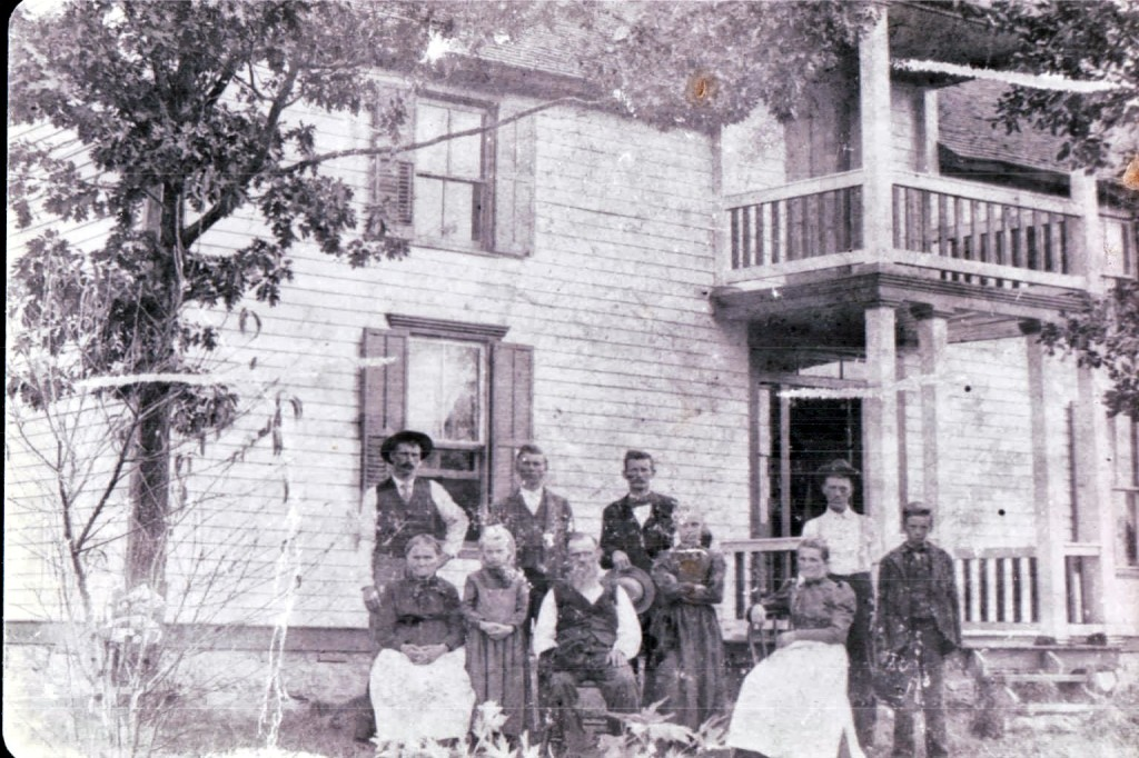 Emanuel William Ladman and family. This is the only known picture with Anna (Zeman) Ladman. Back row.